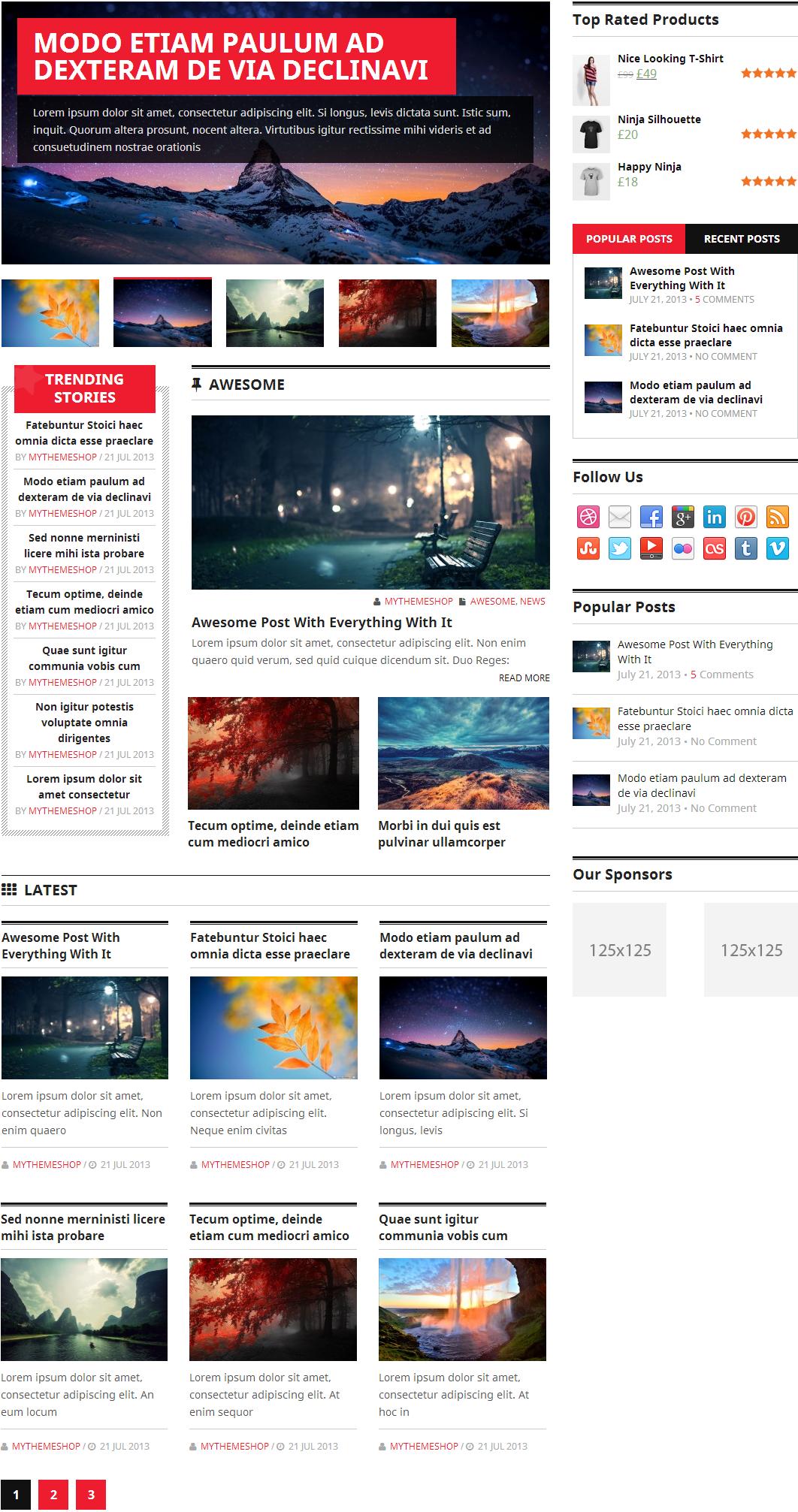 Homepage layout 2