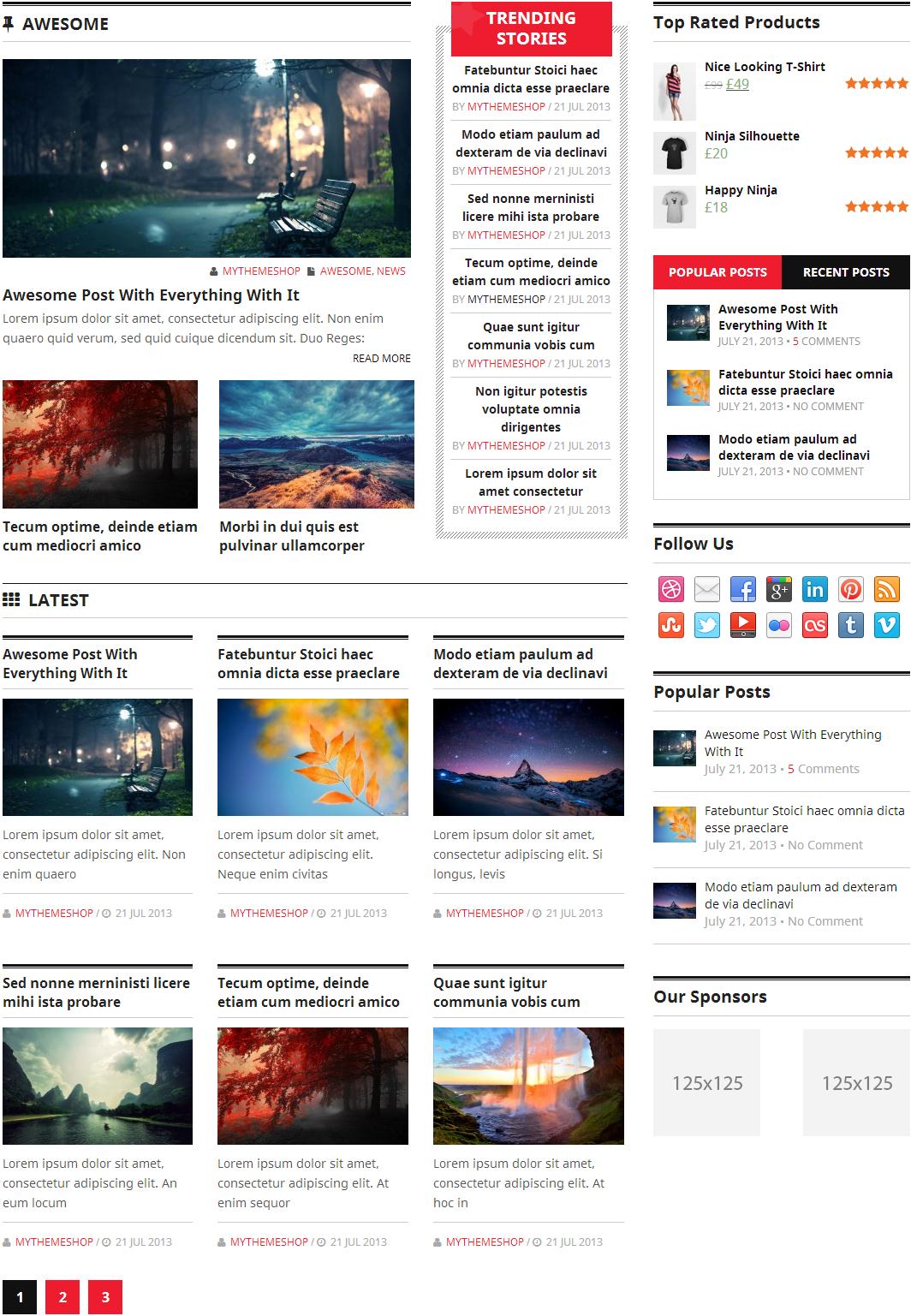 Homepage layout 5